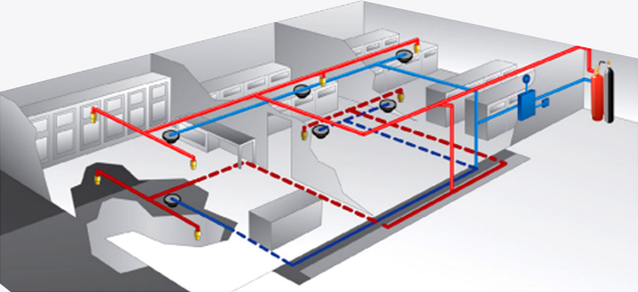 Server Room Data Centre Automatic Fire Suppression System